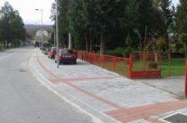 Završena rekonstrukcija, opločenje starog nogostupa od naselja Zdenac (rotor) – do naselja Tounj (centar)